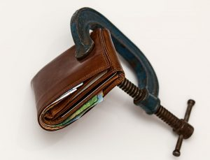 A squeezed wallet.