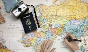 Map, camera and the passport