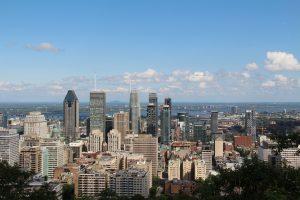 Montreal city view.