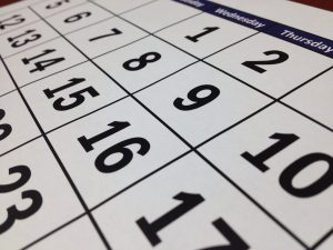A calendar to set the date of your move before you book movers.