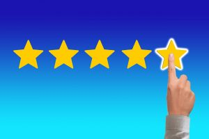 A finger pointing on stars review.